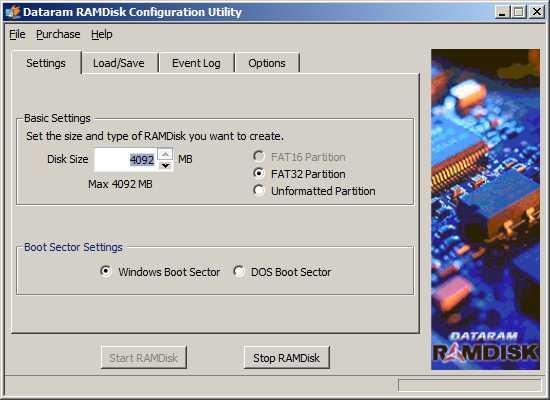Installation et configuration de Data Ramdrive