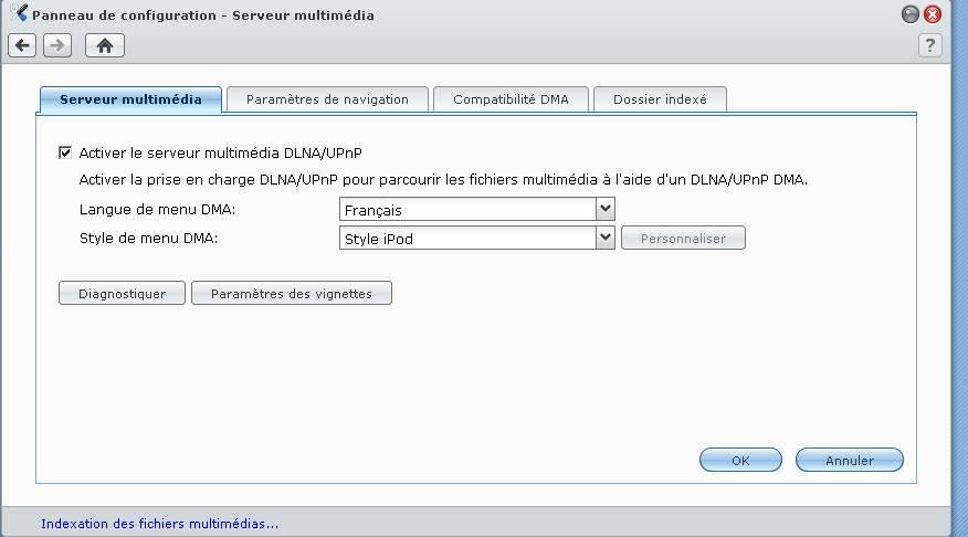 Compatibilité d'un téléviseur SAMSUNG avec un NAS SYNOLOGY (DS209+)