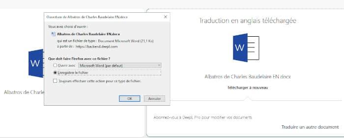 Toutes les étapes pour traduire et exporter un document Word avec Deepl